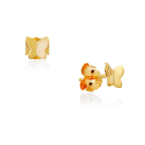 Painted Lady Studs (Gold)-Earrings-Sia Shafer-Gold-pu·rist