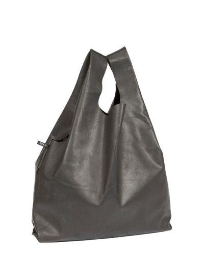 Leather shopper 'Hempbag' Black bags from EVA D. curated by pu·rist