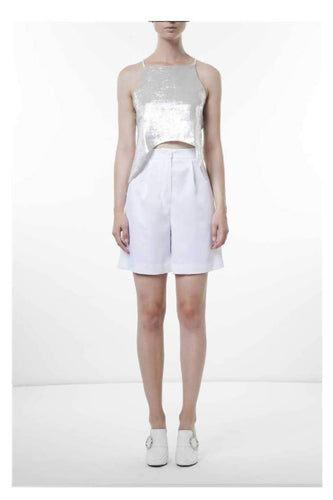 Cady midi shorts-shorts-pu·rist-IT 40 - S-White-pu·rist