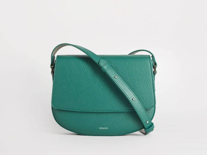 Ana Crossbody, Emerald Green Handbags from Verlein curated by pu·rist
