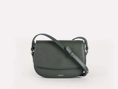 Ana Mini Crossbody, Forest Green Handbags from Verlein curated by pu·rist