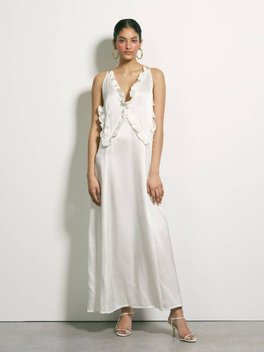 There Is Here Silk Dress - White | PRE ORDER