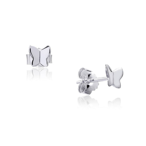 Painted Lady Studs (Silver)-Earrings-Sia Shafer-Silver-pu·rist