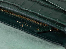 Load image into Gallery viewer, Ana Croc Crossbody, Amazon Green Handbags from Verlein curated by pu·rist