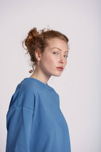 "Oversized T-Shirt ""MALIN"" in blau"