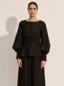 The Virtuoso Blouse - Moonless-Tops-L'ETE FEMME-pu·rist