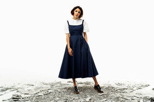 Darae Dress (Navy) Pre-order-Dress-MOIRAI-pu·rist