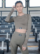 Load image into Gallery viewer, TRACK TOP - KHAKI TOPS from EXIE curated by pu·rist