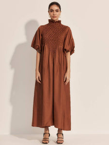 The Coda Maxi Dress - Rust-Dress-L'ETE FEMME-pu·rist