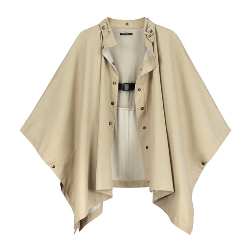 Rain cape 'Mule' beige cotton jackets from EVA D. curated by pu·rist