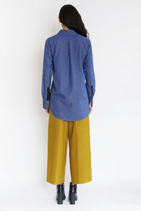 Strap Shirt | Melange Blue Shirts from JETTI curated by pu·rist