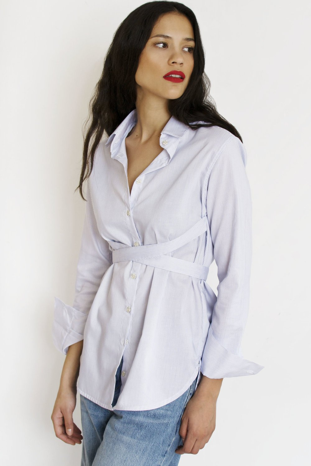 Strap Shirt | White Shirts from JETTI curated by pu·rist