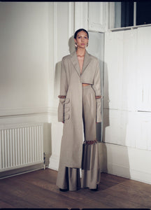 LONG ASYMMETRICAL COAT | PREORDER-Coats-MAISON BENT-pu·rist