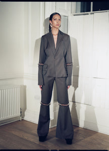 CASHMERE WOOL BLEND TROUSERS EMBODYING METAL HARDWARE | PREORDER-PANTS-MAISON BENT-pu·rist