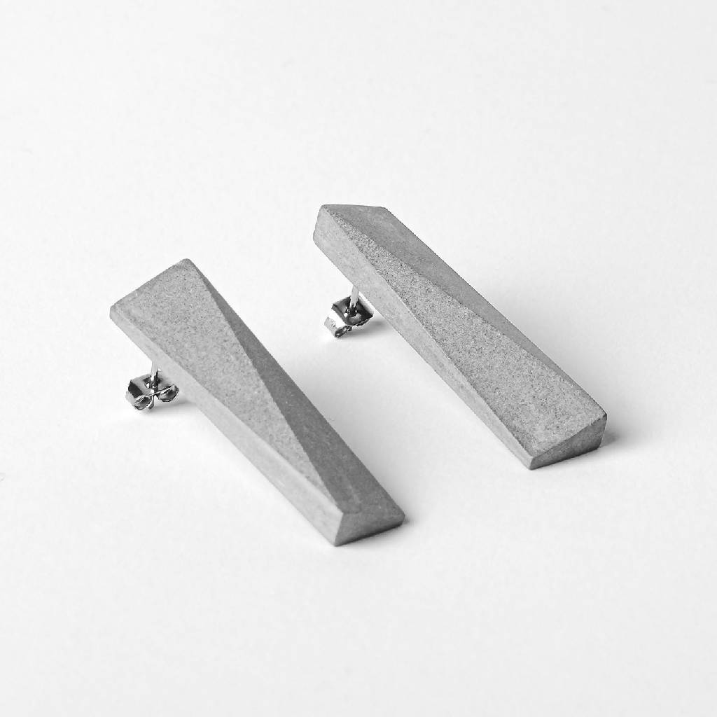 Blok — 48 Grey Earrings-Earrings-MORF-One size-pu·rist