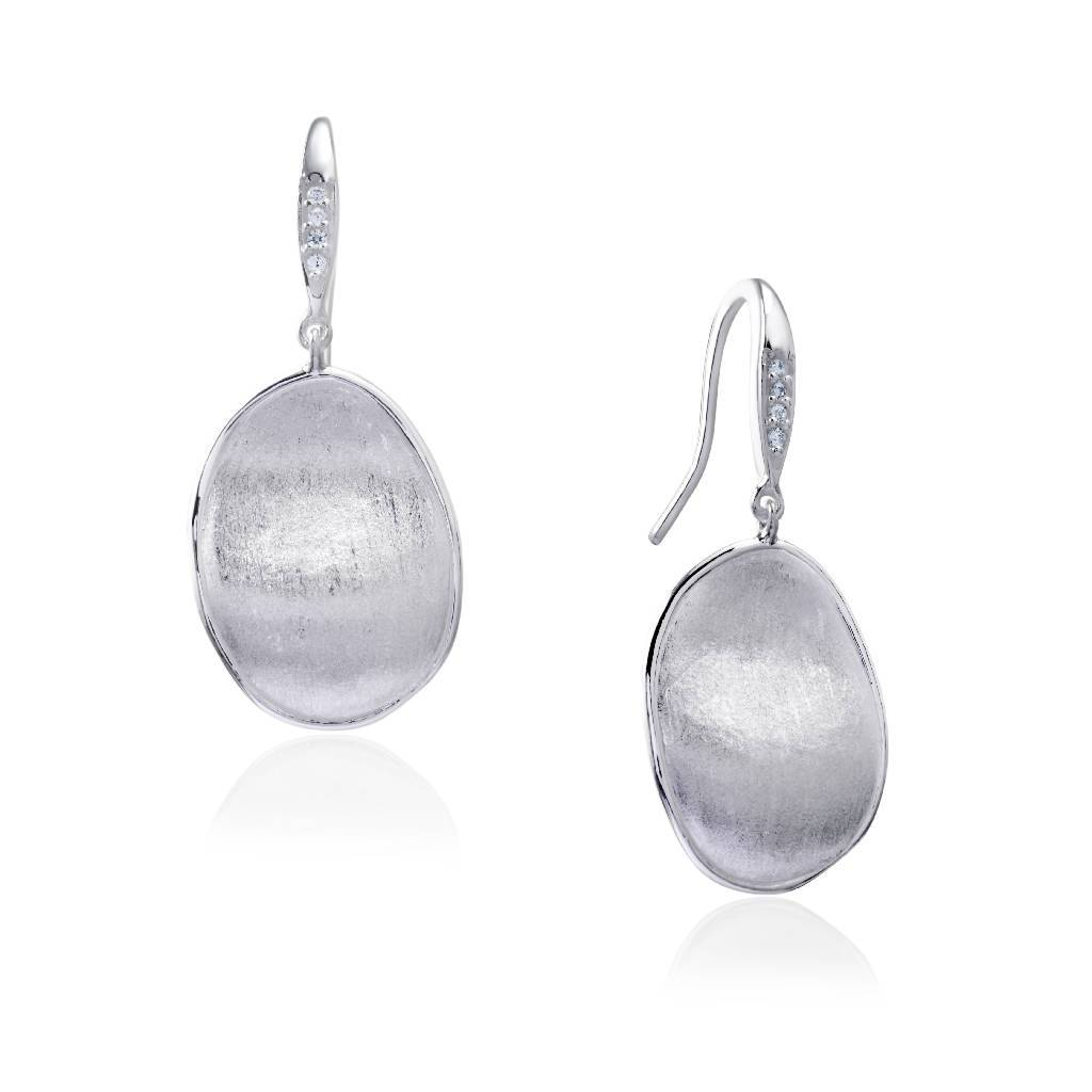 Yellow Poetry (Silver)-Earrings-Sia Shafer-Silver-pu·rist