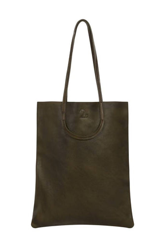 Easy Leather Tote-handbags-DONNA ZHONG-Olive-pu·rist