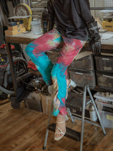 LUCID DREAM MULTI COLOR RUCH SWEATPANTS-SWEATPANTS-WOODROSE-pu·rist