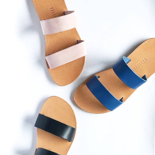 Double Slide Sandal | Pink-Sandal-Minima Handcrafted-pu·rist