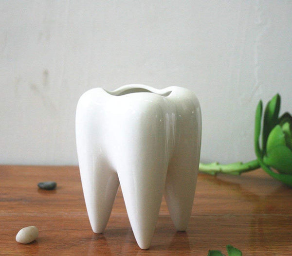 Tooth Shape Dental Clinic Pot - Dental Desire.com