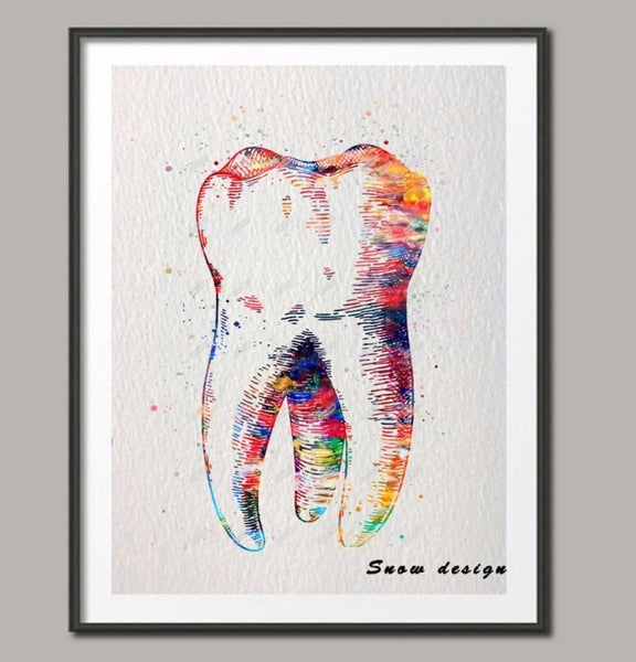 Dental Molar Tooth canvas Wall art poster - Dental Desire.com