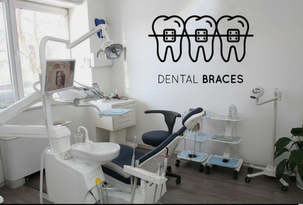 Dental Braces Sign Decal Dentist Office Wall Sticker - Dental Desire.com