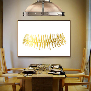 Gold Teeth Print Dental Art Canvas Painting For Clinic Decor - Dental Desire.com