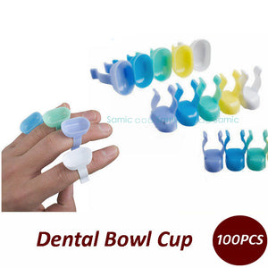 100pcs Dental disposable consumables plastic handy finger bowl cup for mixing - Dental Desire.com