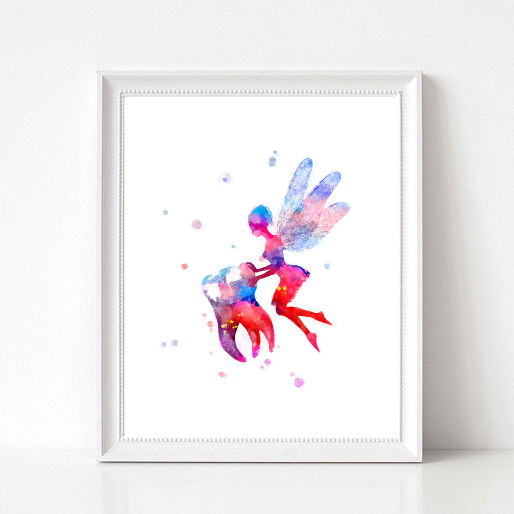 Tooth Watercolor Print Tooth / Tooth Fairy Dental Art Poster For Clinic Wall Decor - Dental Desire.com