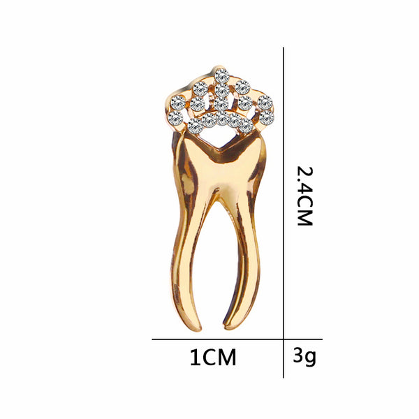 Crown Tooth Brooch Pin - Dental Desire.com