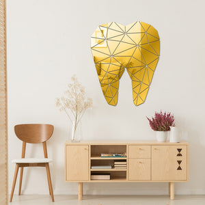 Tooth Shaped Acrylic Mirrored Wall Stickers For Office Decor - Dental Desire.com