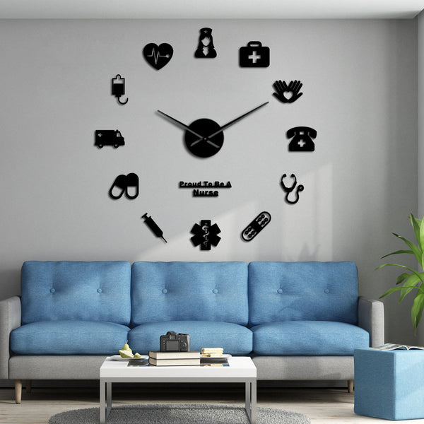 3D DIY Wall Clock For Medical Hospital/Clinics/Drugstores - Dental Desire.com