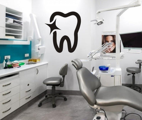 Shiny Teeth Dental Clinic Wall Decal Sticker - Dental Desire.com