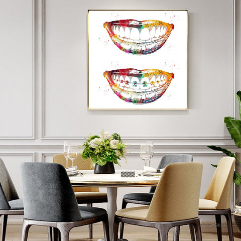 Laugh Out Loud Dental Wall Art Painitng