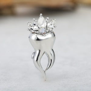 Crown Tooth Shape Brooch - Dental Desire.com