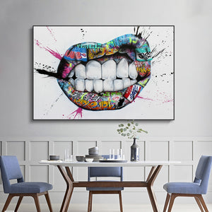 Wall Art Decor Mouth Canvas Painting - Dental Desire.com