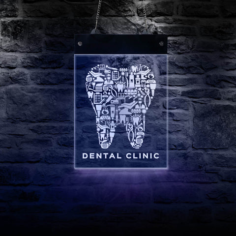 Dental Clinic LED Sign Board - Dental Desire.com