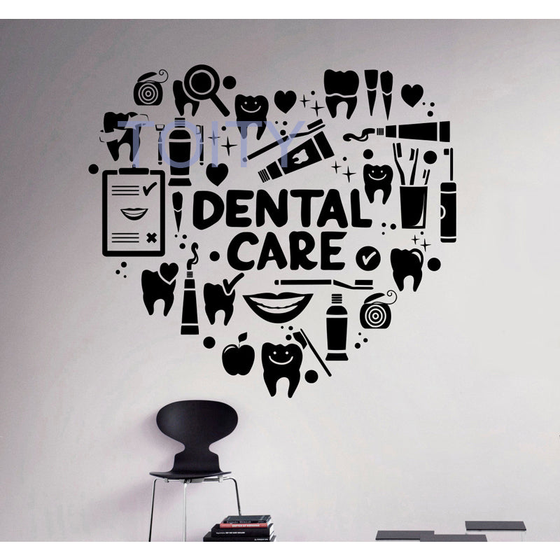 Dental Care Wall Decal Dentist Vinyl Sticker Wall Art Decor - Dental Desire.com