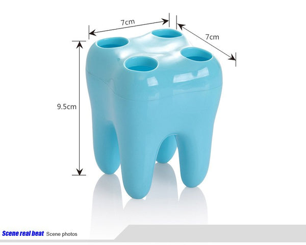 Tooth Shape 4 Hole Toothbrush Holder - Dental Desire.com