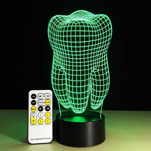 3D Tooth shaped Gradient Light Artware - Dental Desire.com