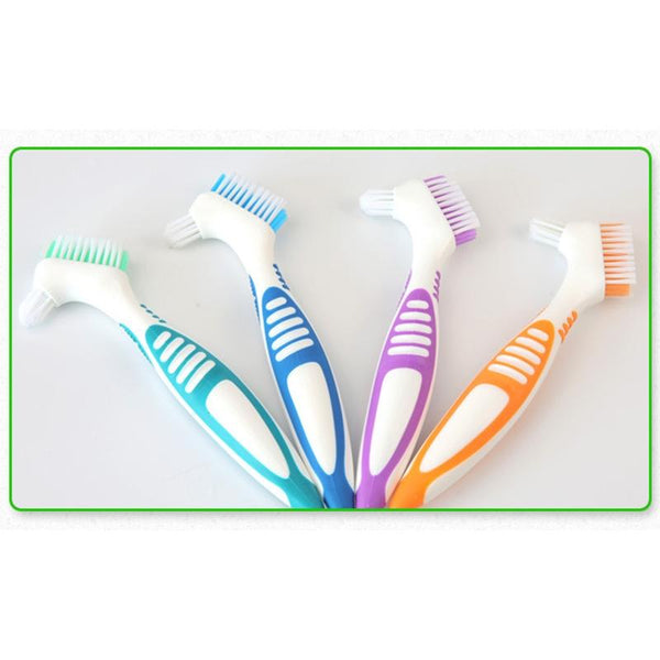 Denture Cleaning Brush Multi-Layered Bristles Oral Care Tool - Dental Desire.com