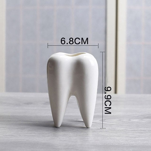 Tooth Shape Mini Desktop Planter Pot (without Plants) - Dental Desire.com