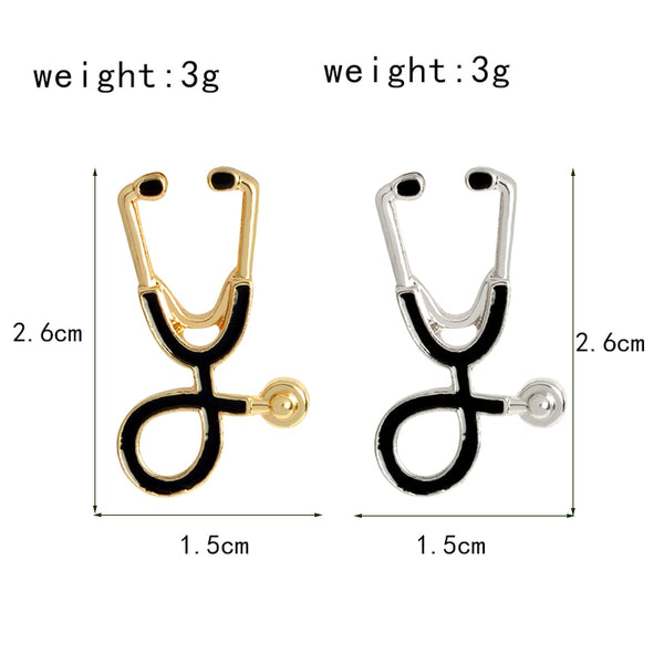 Mini Stethoscope Brooch Pins For Doctors Nurse Medical Student - Dental Desire.com