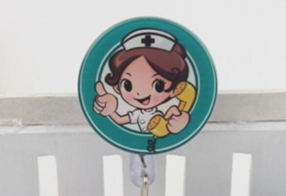 Cute Retractable ID Card Badge Holder