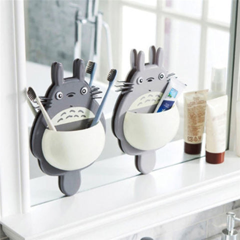 Toothbrush Holder Cute Totoro Toothbrush Wall Mount Holder Sucker Suction - Dental Desire.com