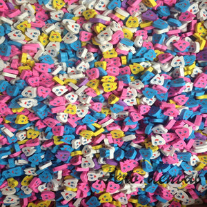 50PC/Bag ToothShape Smiley Erasers - Dental Desire.com