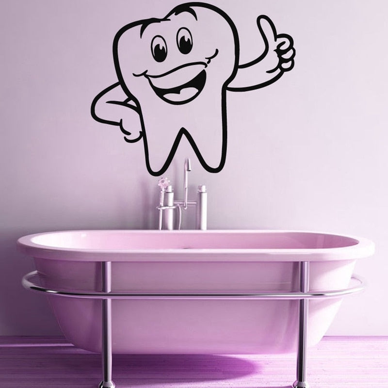 Tooth Sticker Dentist Decal Hollow Sticker - Dental Desire.com
