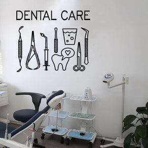 Dental Care Logo Wall Decal Sticker - Dental Desire.com