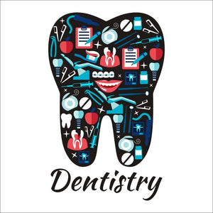 Tooth Dentist Vinyl Art Wall Decor Mural Teeth Sticker - Dental Desire.com