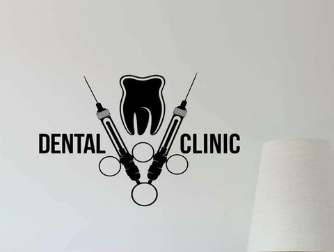 Dental Clinic Wall Decal Dentist Syringe Tooth Vinyl Art Sticker - Dental Desire.com